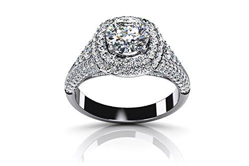 $2,499  -  1.47 CARATS ROUND BRILLIANT * EGL CERTIFIED * DIAMOND DOUBLE HALO ENGAGEMENT RING ON 18K SOLID WHITE GOLD F 26 D http://www.amazon.com/dp/B00OSQMI7U/ref=cm_sw_r_pi_dp_f2Nyub1T13XNG