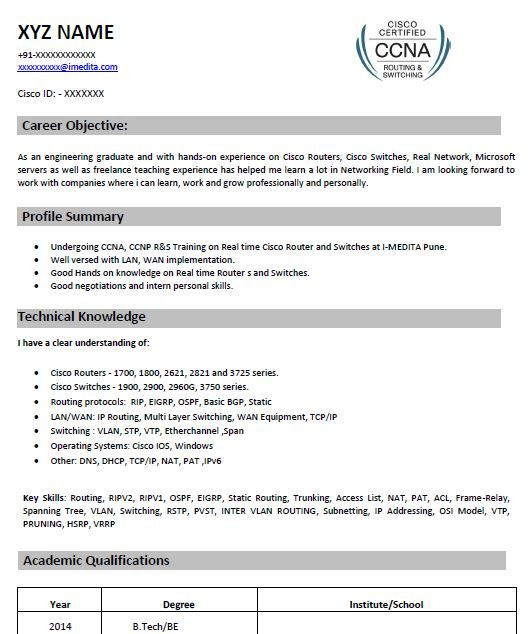Ccna Resume Samples Top 5 Ccna Resume Templates In Doc Ccna Network Engineer Resume Templates