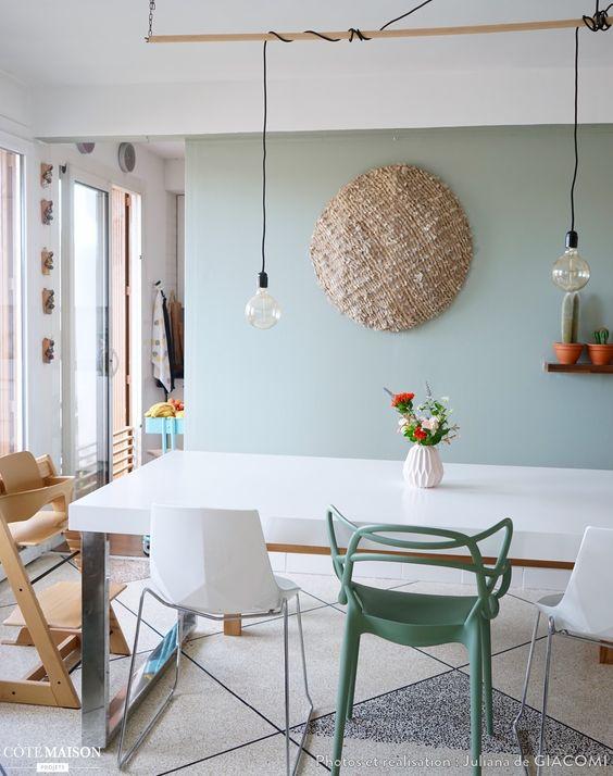 Ma nouvelle salle manger en vert de gris juliana de for Cote maison deco