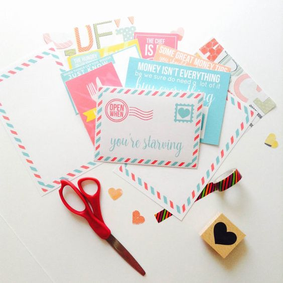 Open When Letter  Open When You're Starving  por OpenWhenLetterShop