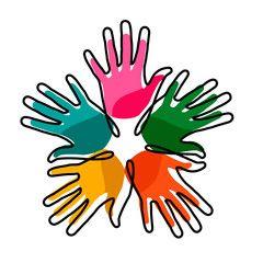 Hands together concept for social help