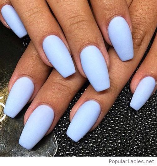 Icy Blue Acrylic Nails Blue Acrylic Nails Long Nails Chrome Nails