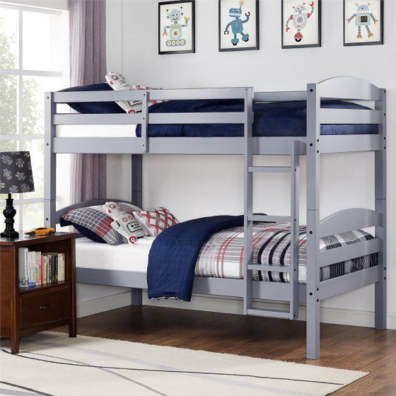 Better Homes And Gardens Leighton Twin Over Twin Wood Bunk Bed Multiple Finishes Walmart Com With Images Twin Bunk Beds Wood Bunk Beds Kids Bunk Beds