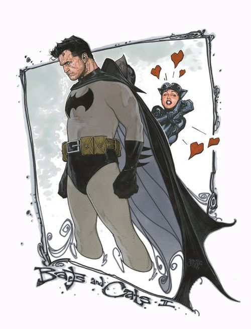 Batman and Catwoman by Travis Charest