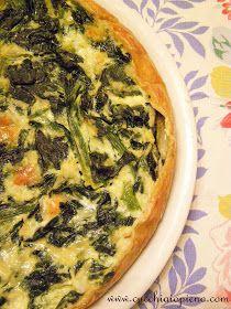 Cucchiaio pieno - yoga e receitas saudáveis vegetarianas e vegana! Com passo-a-passo e fotografia.: Torta de espinafre e queijo
