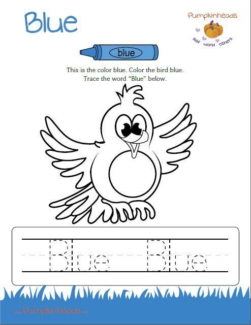 color blue worksheets - Elleapp