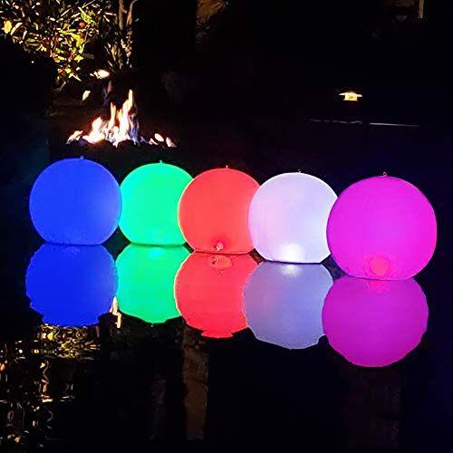 lumières de boule de piscine Lumière flottante solaire de 2pcs LED