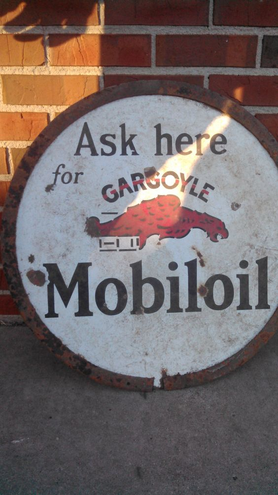 Mobil Oil Gargoyle  Vintage Style Metal Signs Gas Pump Garage Man Cave Texaco
