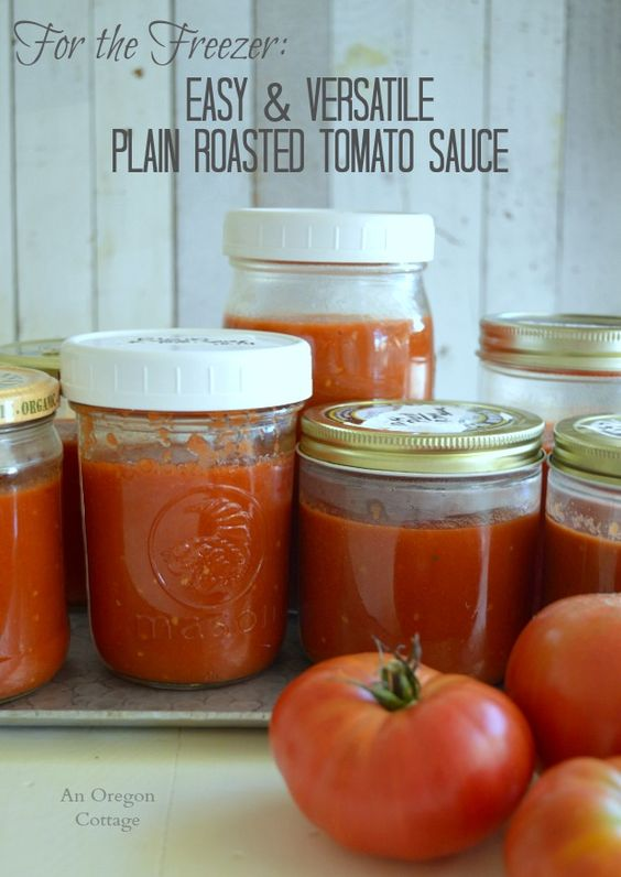 Roasted tomato sauce, Roasted tomatoes and Tomatoes on Pinterest