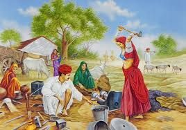 Punjabi culture paintings   -- Ironsmith family