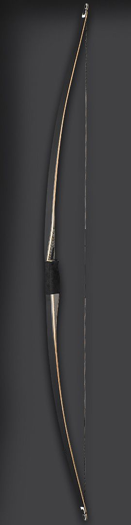 The Montana longbow was first introduced in the late 90s and has become a very popular addition to an already proven line-up. This bow was designed by one of Fred Bear's long-time bowyers, Grant Neil Byce II. The bow's slightly reflexed design, tapered limb lamination and new, slimmer tips make this longbow big on performance and value.