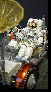 """collectSPACE - resources - """"Code 3 Collectibles' Apollo Astronaut, Lunar Module, and Lunar Rover"""