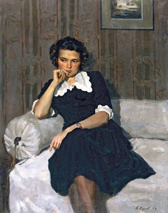 Б. Корнеев. Портрет Ñудожницы М. А. Козловской. 1954