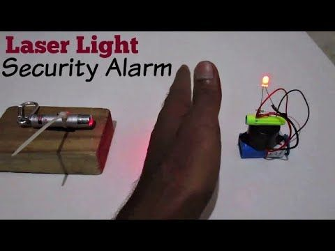 Laser Security Alarm How To Make A Laser Light Security Alarm System At Home Youtube Security Alarm Home Security Systems Wireless Home Security Systems