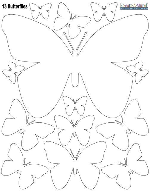 Printable Butterfly Template  Butterflies    Butterfly