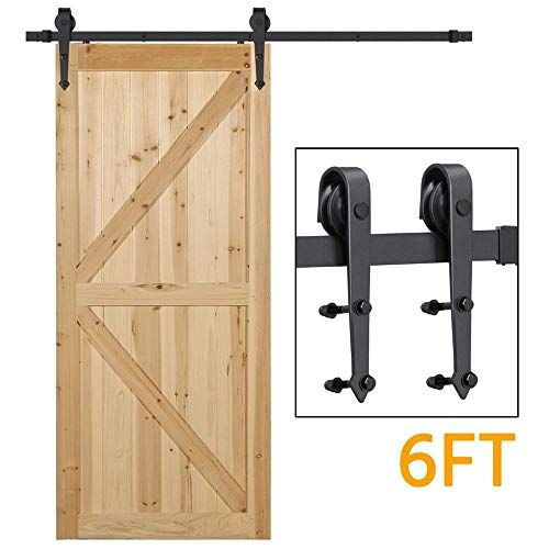 12 Ft Heavy Duty Sliding Barn Door Hardware For Wide Opening And Two Openings 12ft Single D In 2020 Diy Barn Door Cheap Diy Barn Door Hardware Sliding Barn Door Closet