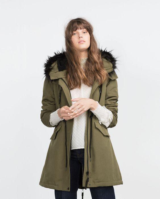 FLEECE LINED PARKA-Parkas-Outerwear-WOMAN | ZARA United States