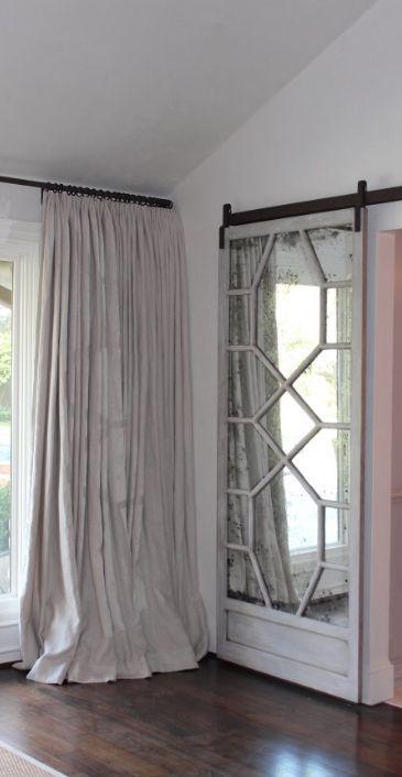 17 best images about closet mirror basement bedrooms to for Mirrored barn door