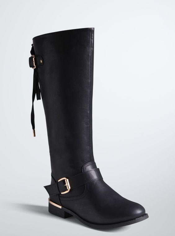 plus size wide calf knee boots plus size fashion