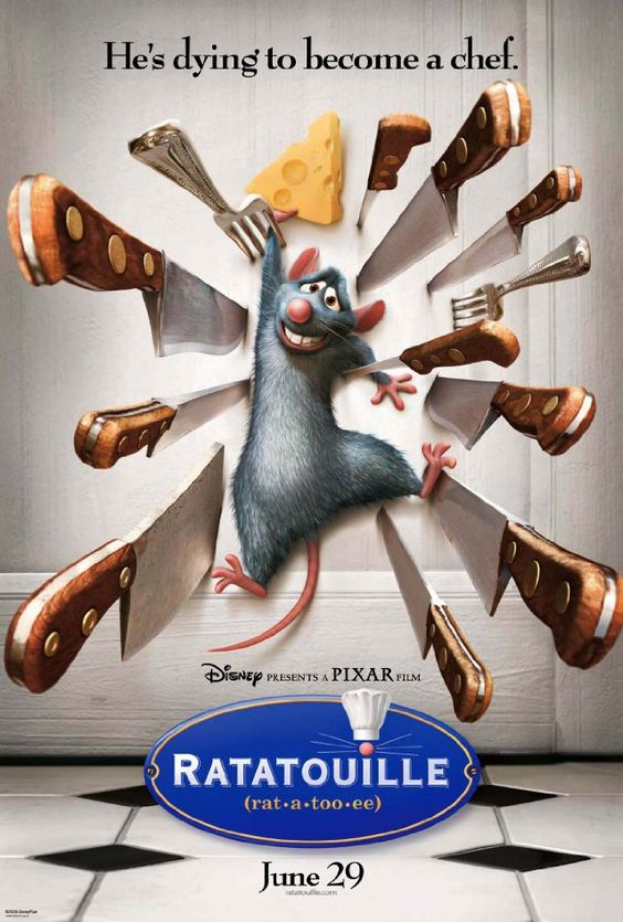 Ratatouille. Is. So. Good. You quickly forget you're watching animation. So creative...