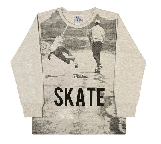 Boy Long Sleeve T-Shirt Skater Graphic Tee Pulla Bulla 2-4 Years - Mixed Banana. Skate theme boy shirt, long sleeve. Features a graphic and crew neckline. It comes in the color Mixed Banana. Light weight for maximum comfort: for any occasion. Machine washable - Made in Brazil.