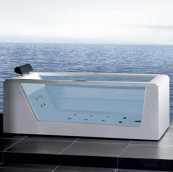 The Areiel Platinum Whirlpool Bathtub from ModSaunas