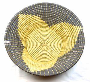 Tanzanian Woven Basket Gray Maua Basket Bookshelfdecorbaskets Gray Maua Tanzanian Woven Basket Decoration Woven Tanzanian