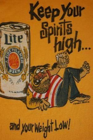 Vintage 70s Miller Lite Beer T 300 450 For