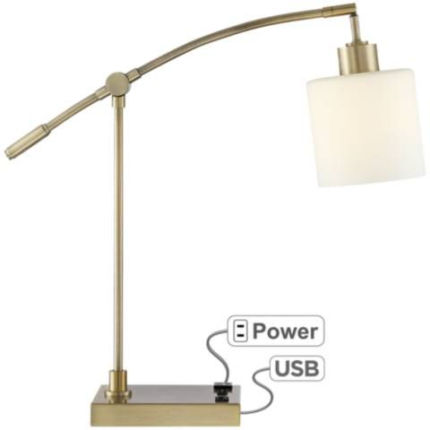 Kipling Desk Lamp With Oulet And Usb Port 43a15 Lamps Plus