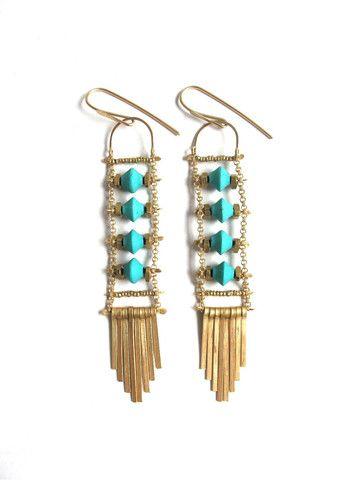 Demimonde Turquoise Earrings - Demimonde