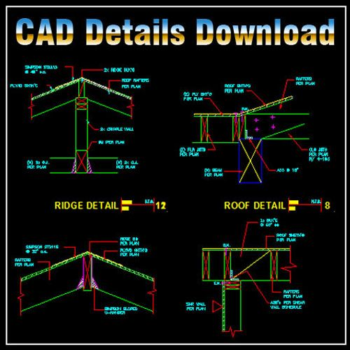 Shopping Cart Architecture Design Drawing Autocad Roof Detail