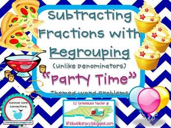 math worksheet : subtracting fractions with regrouping  lesson  practice  fractions : Subtracting Fractions With Regrouping Worksheets