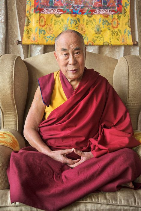 Indian photographer Raghu Rai visits Tenzin Gyatso, the 14th Dalai Lama, at his temple