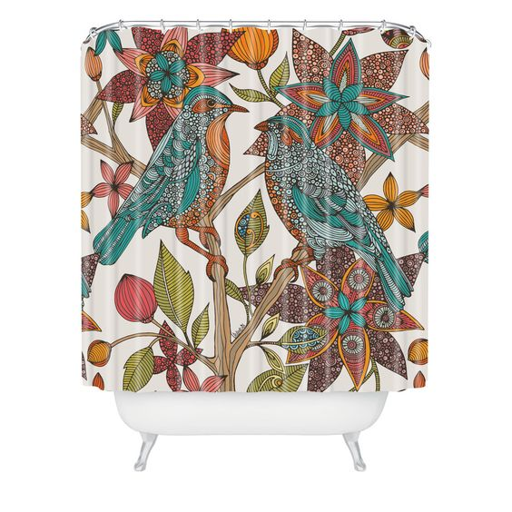 Valentina Ramos Lovebirds Shower Curtain | DENY Designs Home Accessories