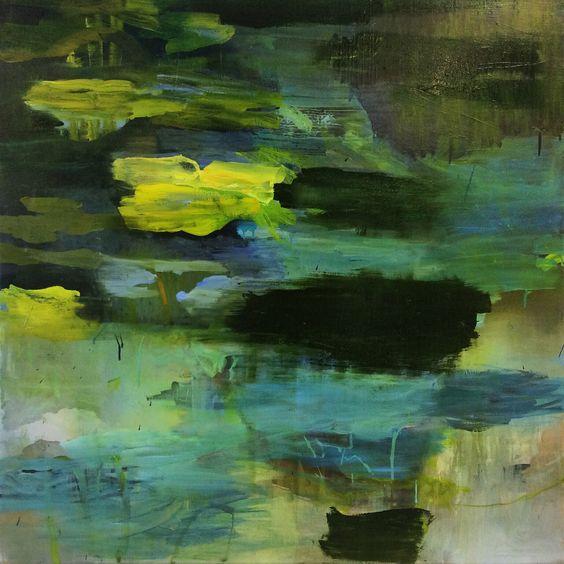 """"""" Floating """" oil on canvas, 100 x 100 cm, Bjørnar Aaslund 2015"""