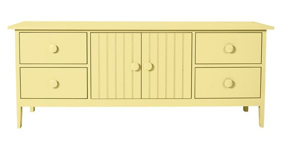 Really coveting this entertainment console from Cottage and Bungalow