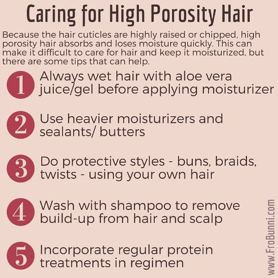 Dealing with High Porosity Natural Hair