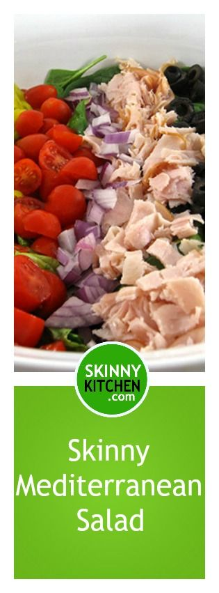 Mediterranean Salad, Skinny and Delicious   To lose, Fiber and Skinny