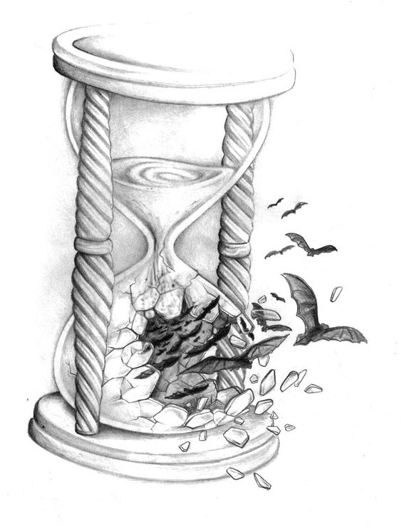 broken hourglass tattoo designs sketch coloring page. Black Bedroom Furniture Sets. Home Design Ideas
