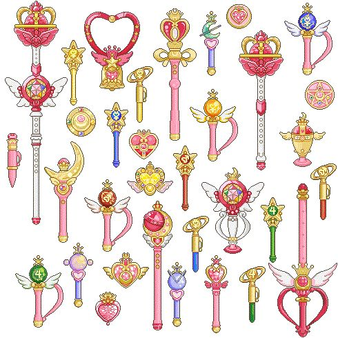 sailor moon wand list