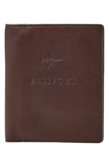 Fossil Leather Passport Case available at #Nordstrom