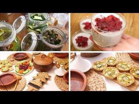 اول مائدة رمضانية بوصفات صحية وسهلة ميني كيش مسمن معمر شوربة سلطة تحلية حليب نباتي Youtube In 2021 Food Breakfast