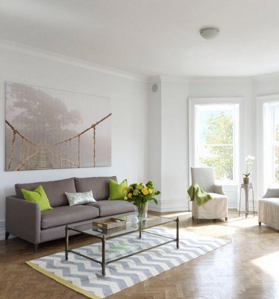 Teppich Zick Zack Weiß-Schwarz Wohnzimmer Einrichtungsideen - designer teppiche moderne einrichtung