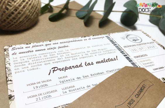 Invitación De Boda Pasaporte | Doce Leguas
