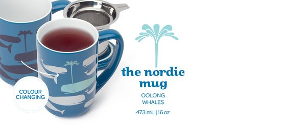 Heat Sensitive Whales Nordic Mug - The Whales On This Mug Change Colour When You Add Hot Water | DavidsTea