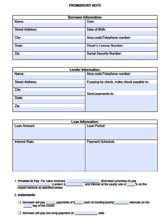 Download Blank Promissory Note Template | PDF | RTF | Word wikiDownload