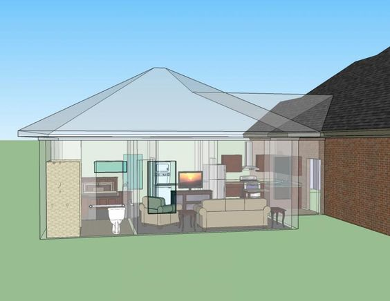 654186 handicap accessible mother in law suite house for Handicapped house plans