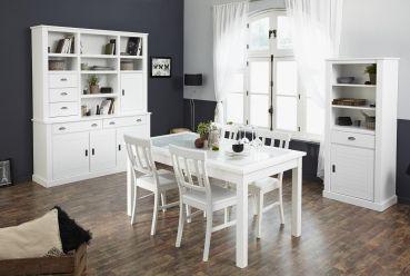Esszimmer - Set Charlotte I - 6tlg.  #Möbel #weiß #Esszimmer #Stuhl #Tisch #Schrank #Buche