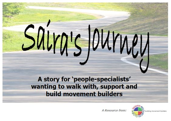Saira's journey is a workbook for a leadership (or other team) to think through their plan for supporting and resourcing staff within a mission / Christian organisation context
