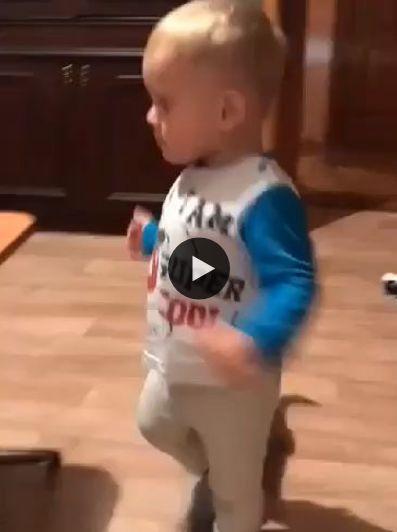 o menininho brincando com o gatinho
